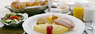 50種類以上の朝食バイキング