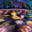 世界最大級 水面に輝く プロジェクション マッピング画像
